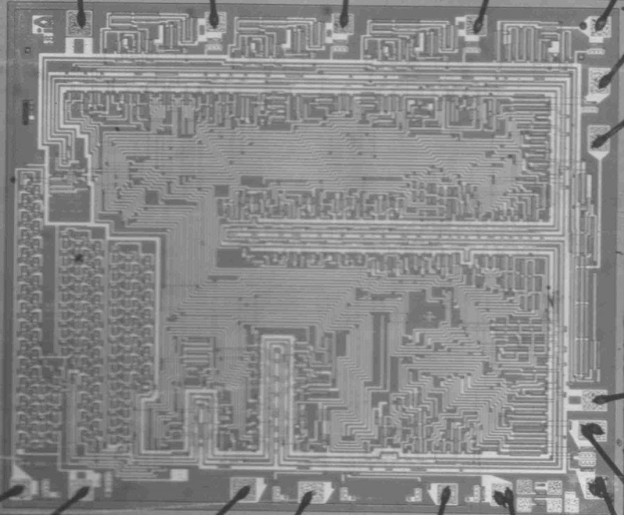 First Microprocessor Central Processing Unit Chip CPU